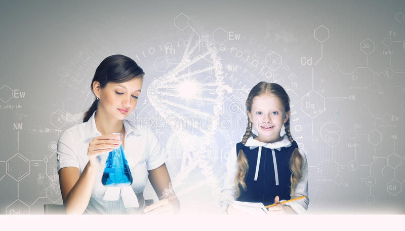 Chemistry lesson stock photography