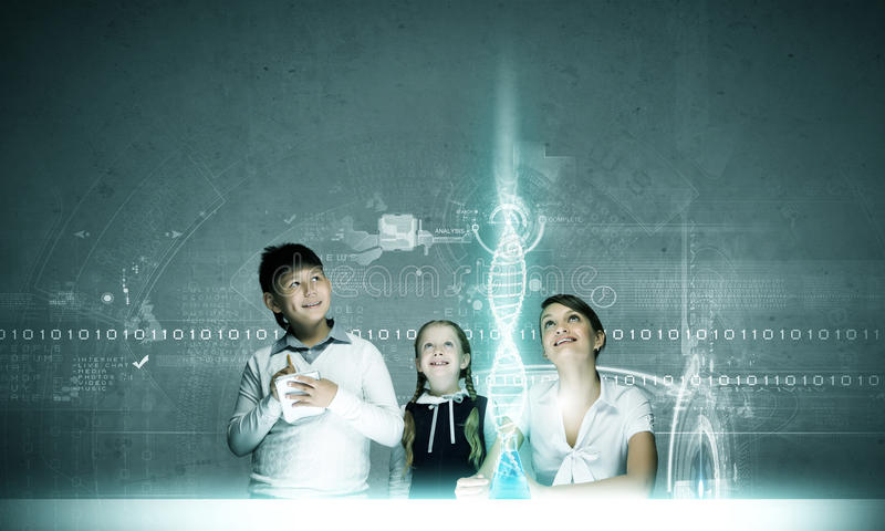 Chemistry lesson royalty free stock photos