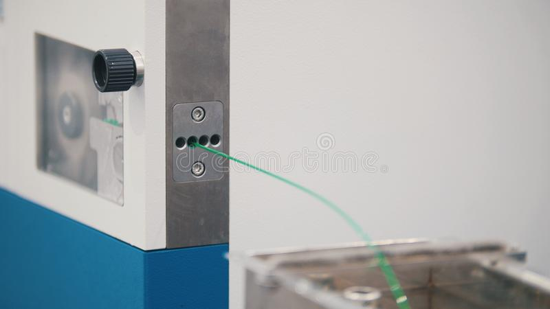 Chemistry plant - extrusion manufacturing line - extruder, close up. View royalty free stock images