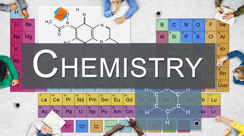 Chemistry Science Experiment Formula Concept stock photos
