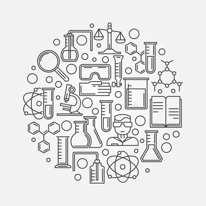 Chemistry and science illustration stock vector for Chemistry coloring page
