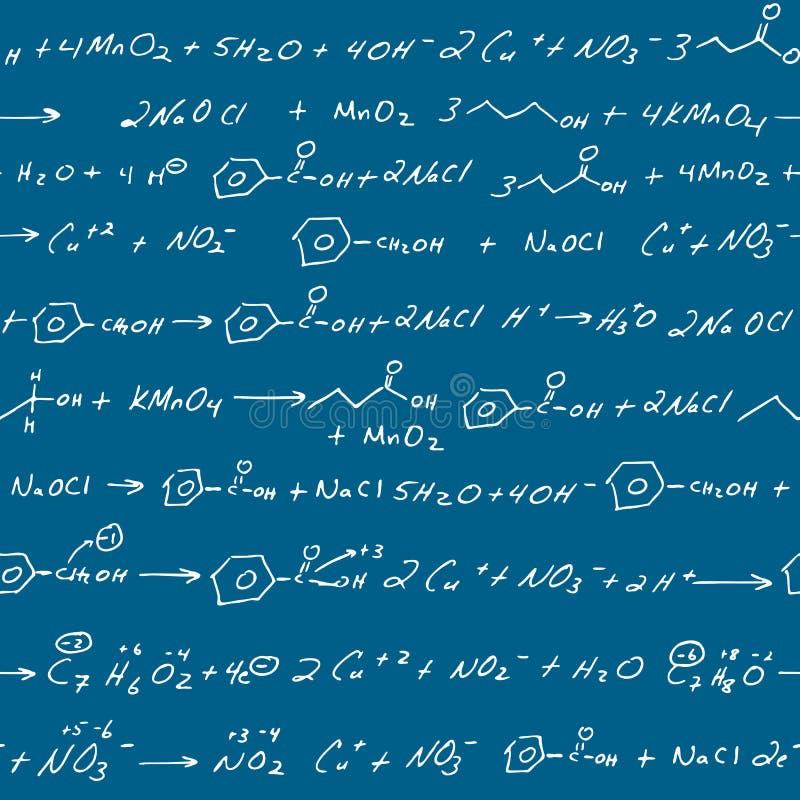 Chemistry scribbles blackboard royalty free illustration
