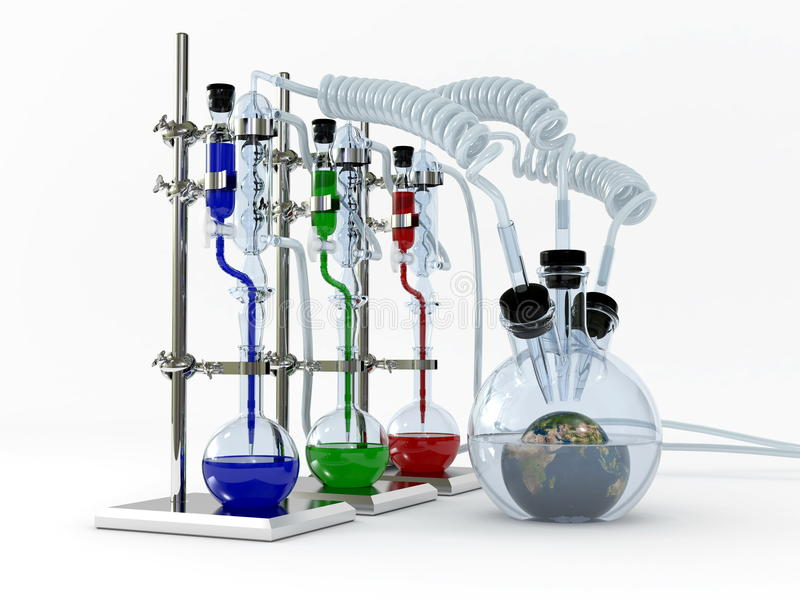 Chemistry set royalty free illustration