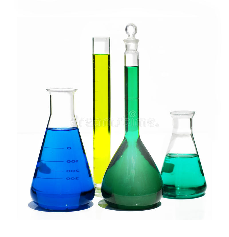 Chemistry supplies royalty free stock images