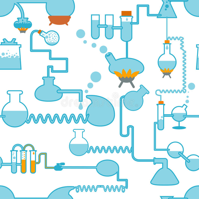 Chemistry symbol seamless stock illustration