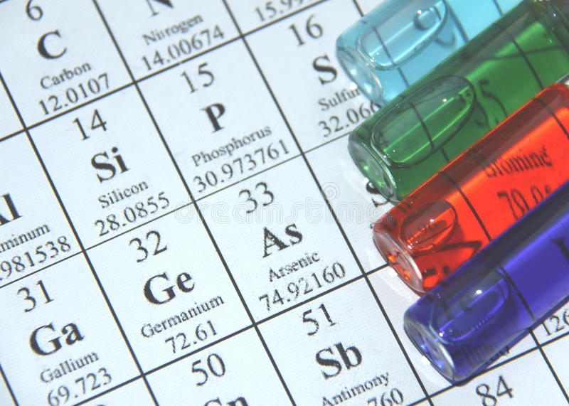 Chemistry. Test tube series stock images