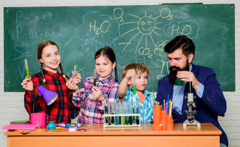 Chemistry themed club. Group interaction and communication. Interests and topic club. Share interests hobbies talents stock photography