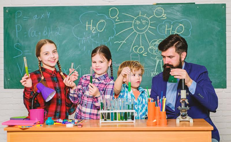 Chemistry themed club. Group interaction and communication. Interests and topic club. Share interests hobbies talents royalty free stock photos
