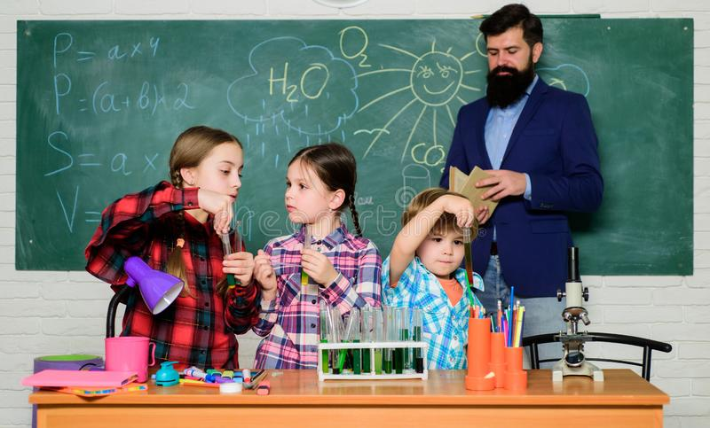 Chemistry themed club. Topic of our club. Group interaction and communication. Promote scientific interests. Practical. Knowledge. Elementary school clubs list stock photos