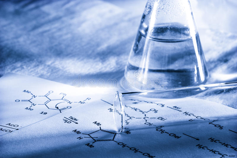 Chemistry in toning royalty free stock photography