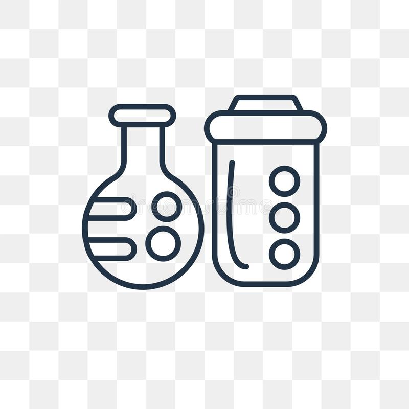 Chemistry vector icon isolated on transparent background, linear stock illustration