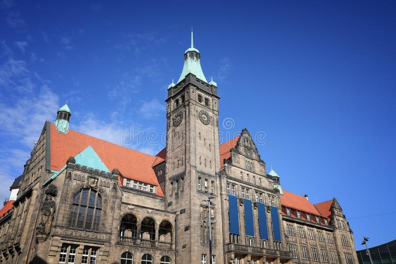 Chemnitz, Germany. New Town Hall (Neues Rathaus) in Chemnitz, Germany royalty free stock photo