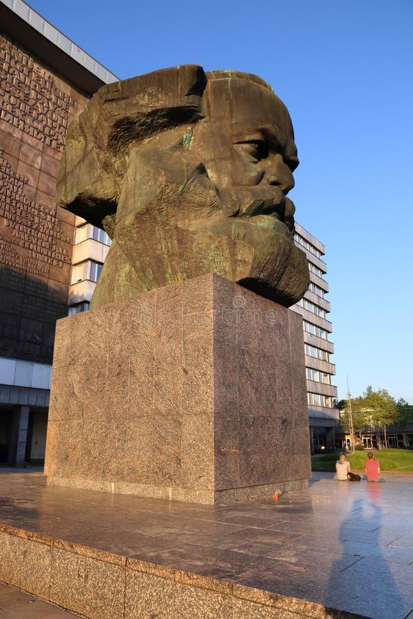 Chemnitz - Karl Marx arkivbild