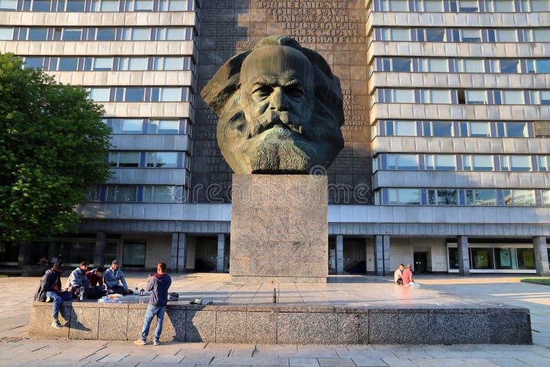 Chemnitz Karl Marx fotografering för bildbyråer
