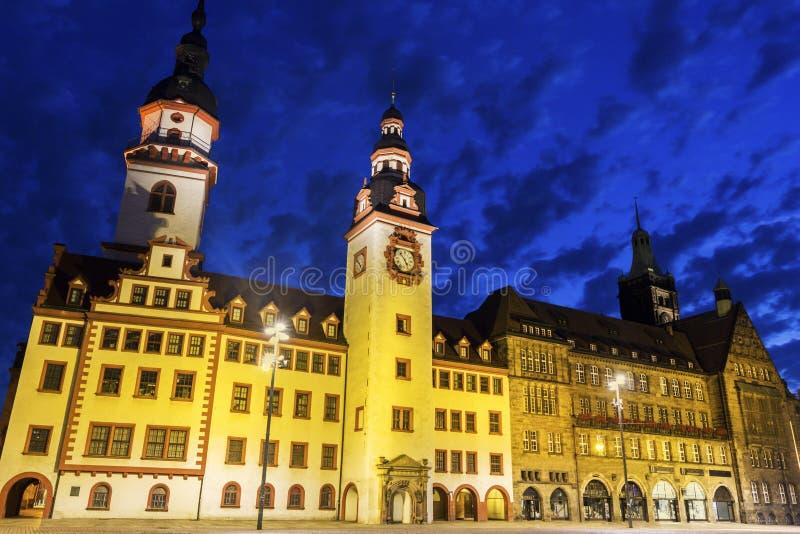 Chemnitz stadshus i Tyskland fotografering för bildbyråer