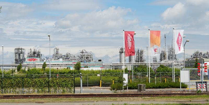 Chemours DuPont chemical company in Dordrecht, the Netherlands. Dordrecht, the Netherlands. July 2019. Entrance to Chemours DuPont chemical factory royalty free stock image