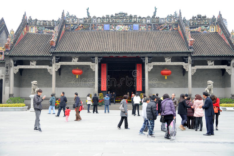 The Chen Clan Academy. Locally known as the Chen Ancestral Hall, was built on donation from the Chen lineages in Guangdong province in the 20th year of Guangxu stock image
