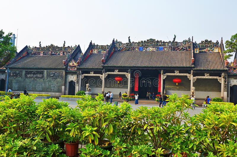 Chen Clan Temple stock image