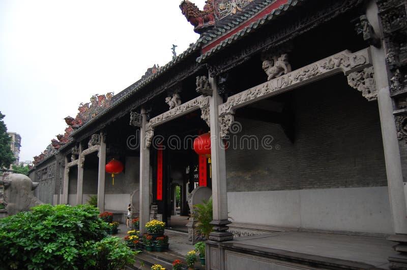 chen guangzhou s tempel arkivfoto