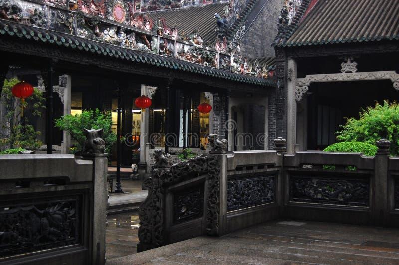 chen guangzhou s tempel royaltyfri foto
