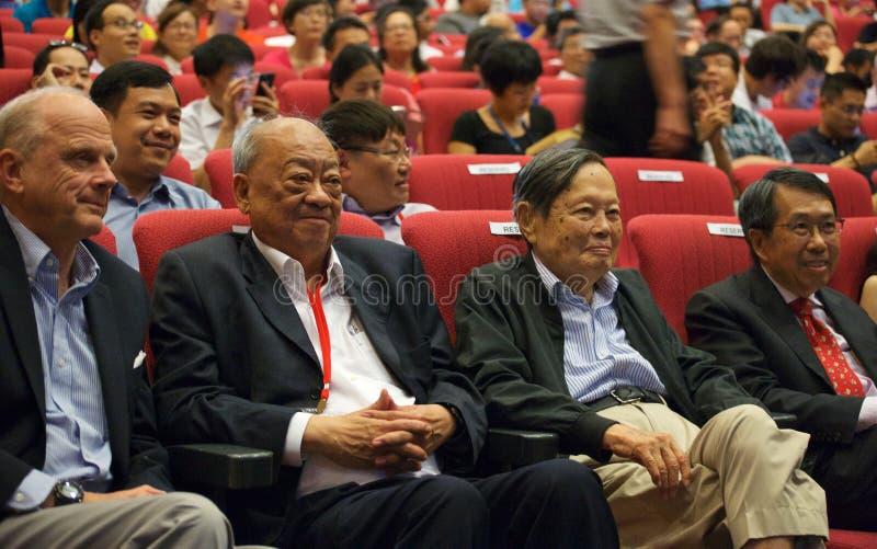 Chen-Ning Yang (KN-Yang) bei der Yang-Mühlkonferenz in Singapur, NTU stockbild