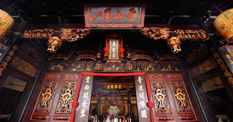 Cheng Hoon Teng Temple i Melaka malaysia royaltyfria bilder
