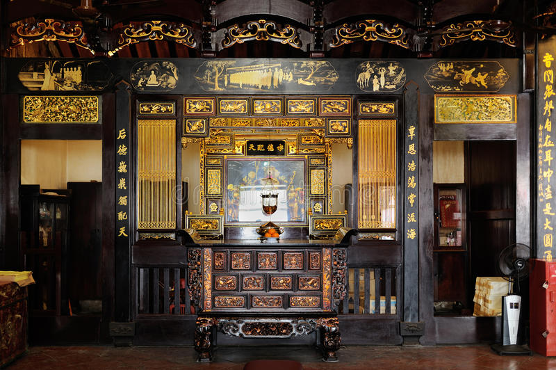 Cheng Hoon Teng Temple in Melaka malaysia stockfotos