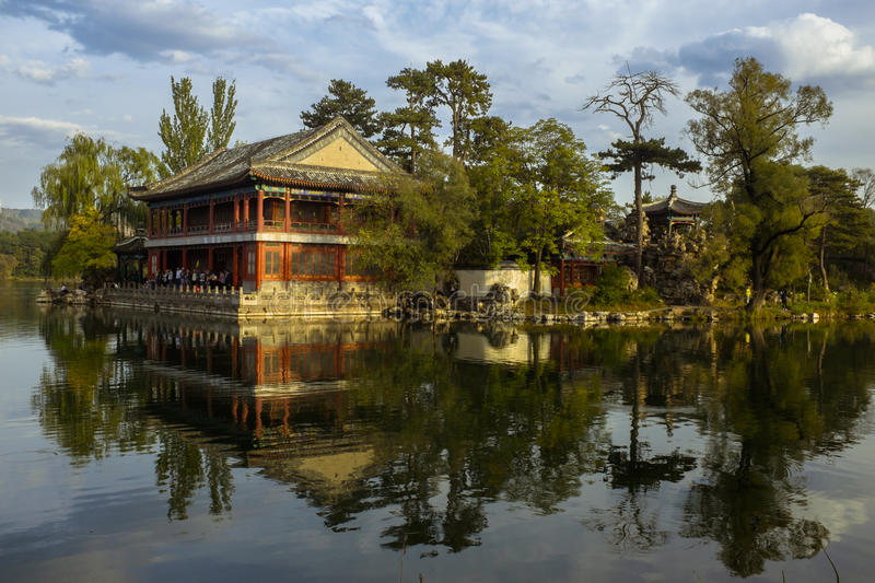 Chengde Mountain Resort. The Mountain Resort in Chengde is a large complex of imperial palaces and gardens situated in the city of Chengde in Hebei, China royalty free stock photos