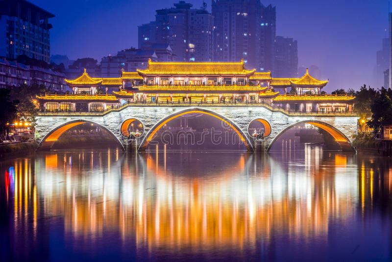 Chengdu-Brücke stockfotos