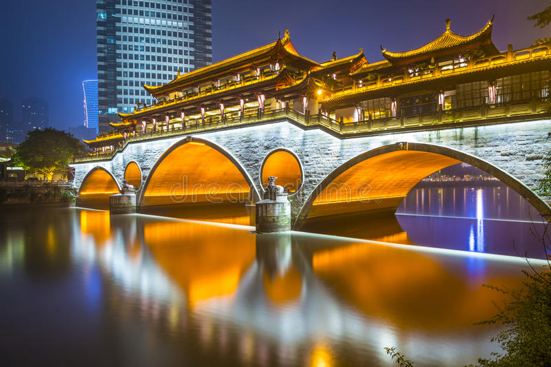 Chengdu Bridge stock image