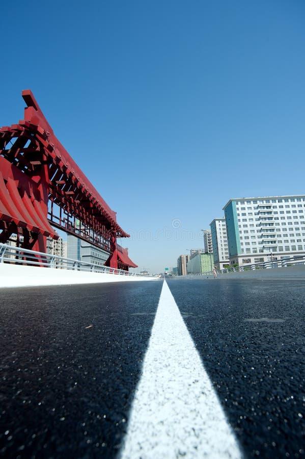 Chengdu, China, viaduto da cidade imagem de stock