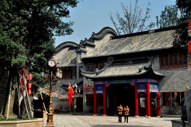 Chengdu, Chine : Chambre élégante chez longue Tan Water Town images libres de droits