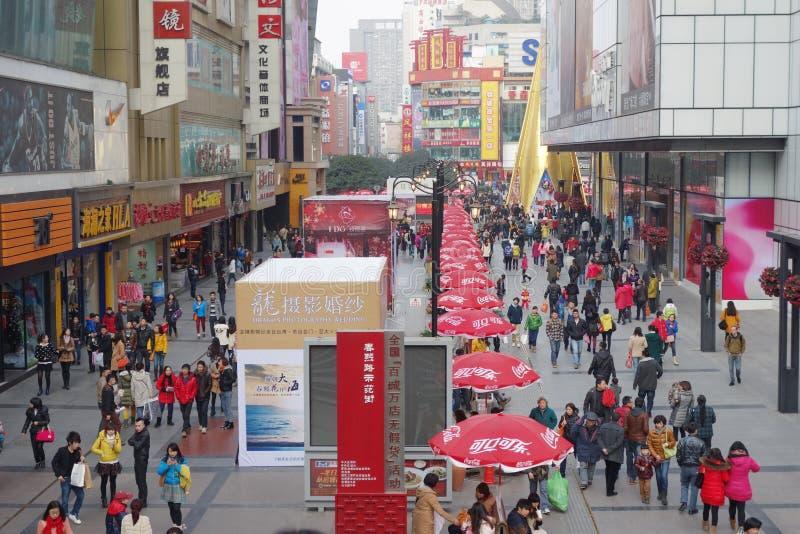 Chengdu chunxi street. Chengdu.chunxi street,chinese famous business walking street stock photo