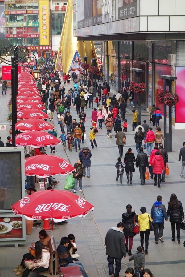 Chengdu chunxi ulica obraz stock