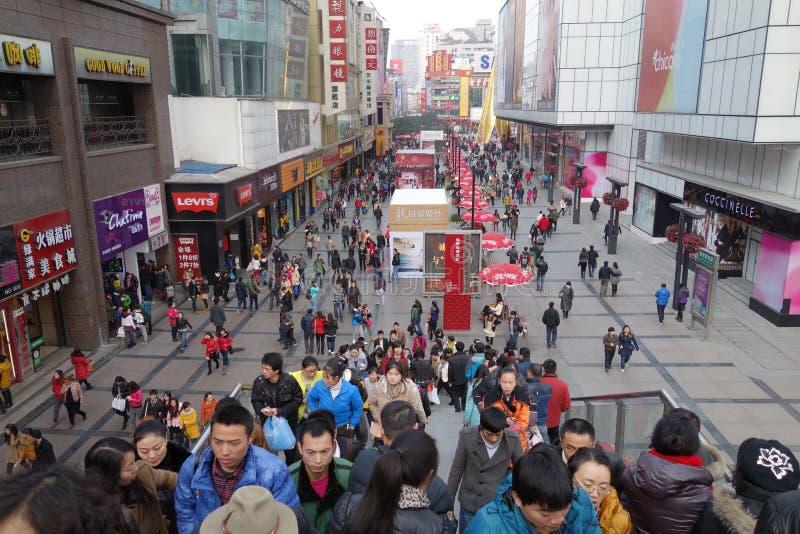 Chengdu chunxi ulica fotografia royalty free