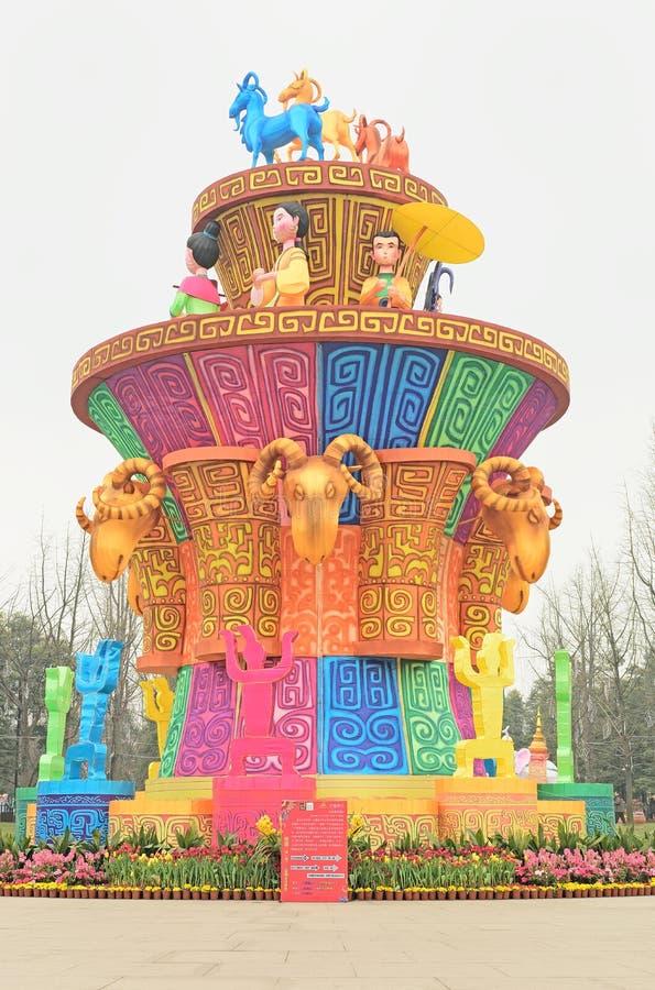 Chengdu Cina-Custons in Anclent Dian Kingdom fotografie stock