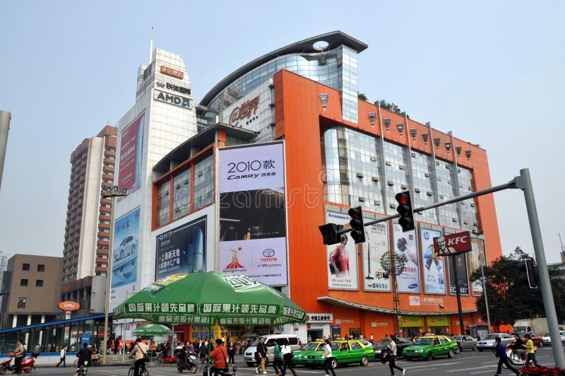Chengdu, Cina: Mega-Viale quadrato di Digitahi immagini stock
