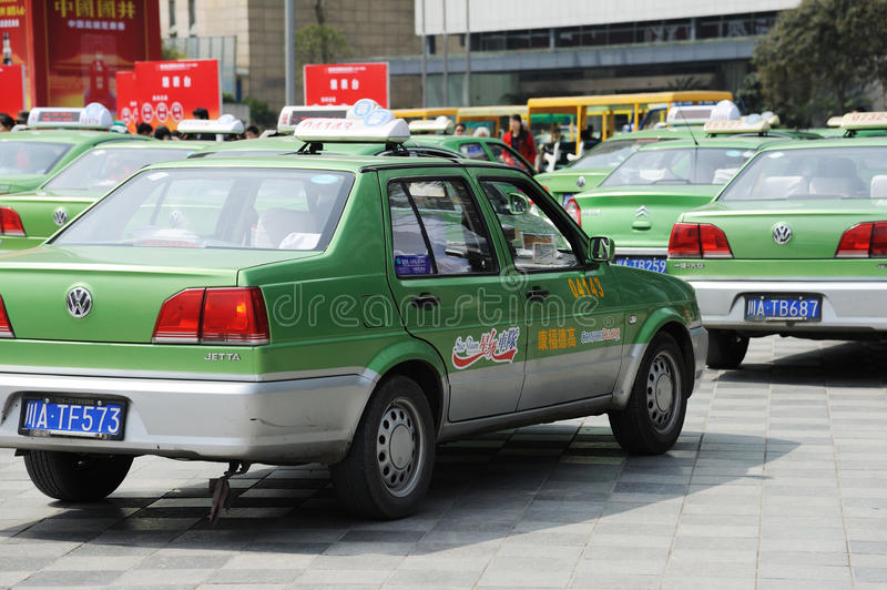 Download Chengdu City Vw Cabs Editorial Stock Image - Image: 24111399