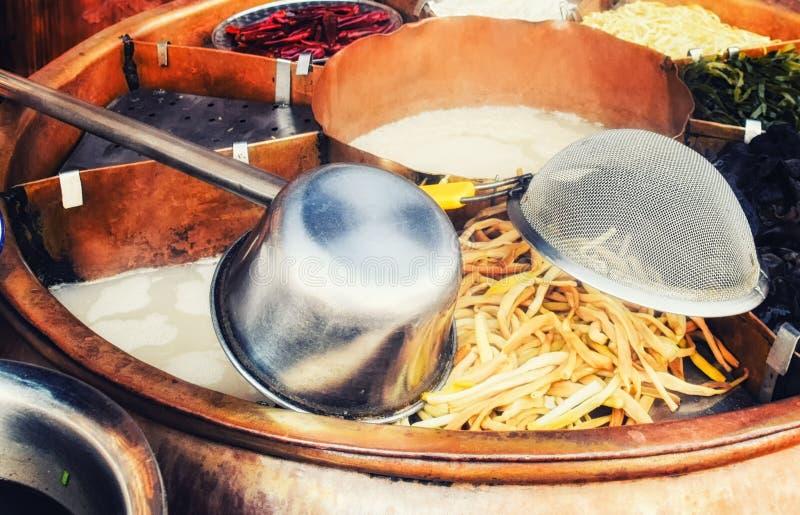 Chengdu hot pot, sichuan chafing dish. A Chengdu hot pot, sichuan chafing dish royalty free stock photos