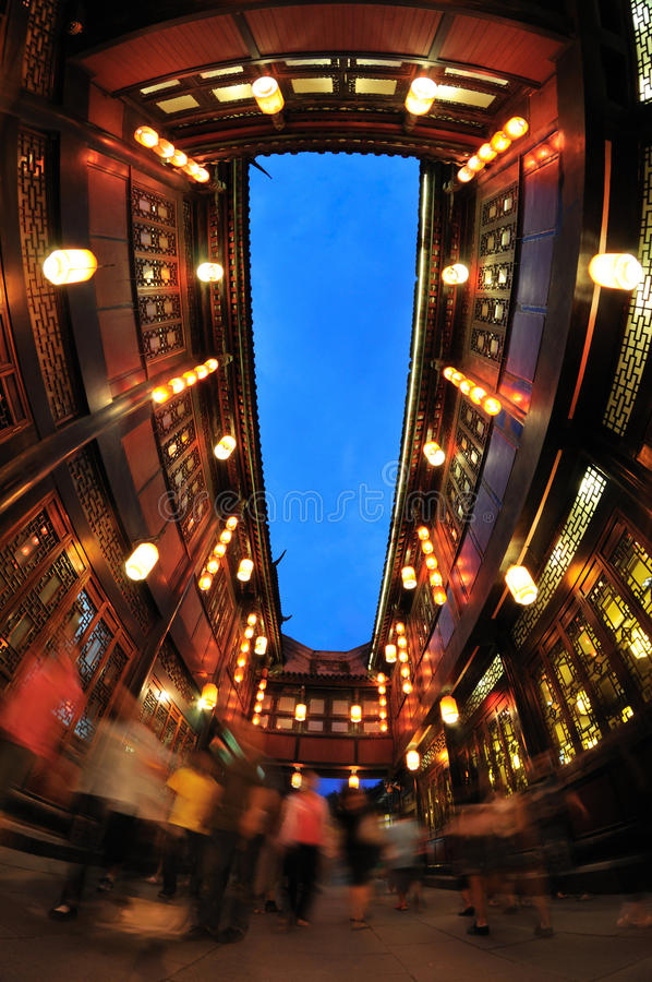 Free Chengdu Jinli Old Street At Night Stock Image - 35605981