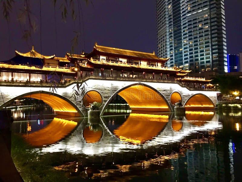Chengdu Jiukong bro arkivfoton