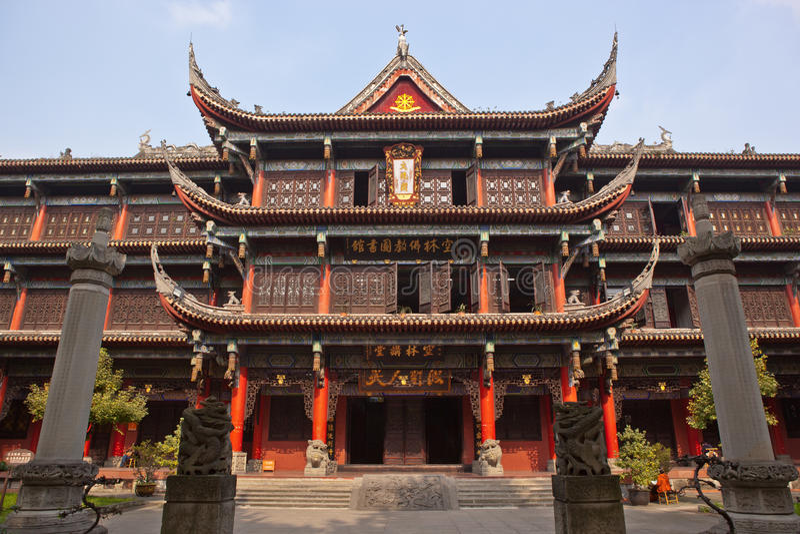 chengdu klosterwenshu fotografering för bildbyråer