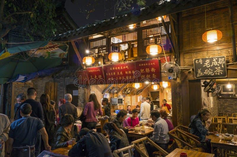 Chengdu Kuanzhai gränd arkivfoto