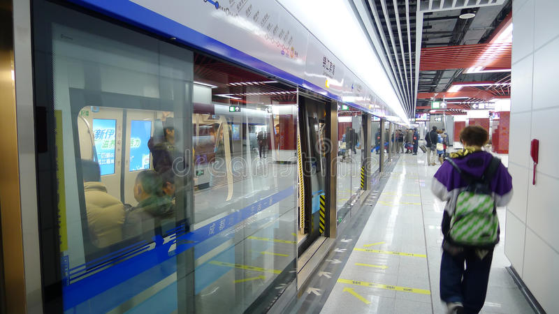 Download Chengdu metro line 1 editorial stock image. Image of business - 19478454