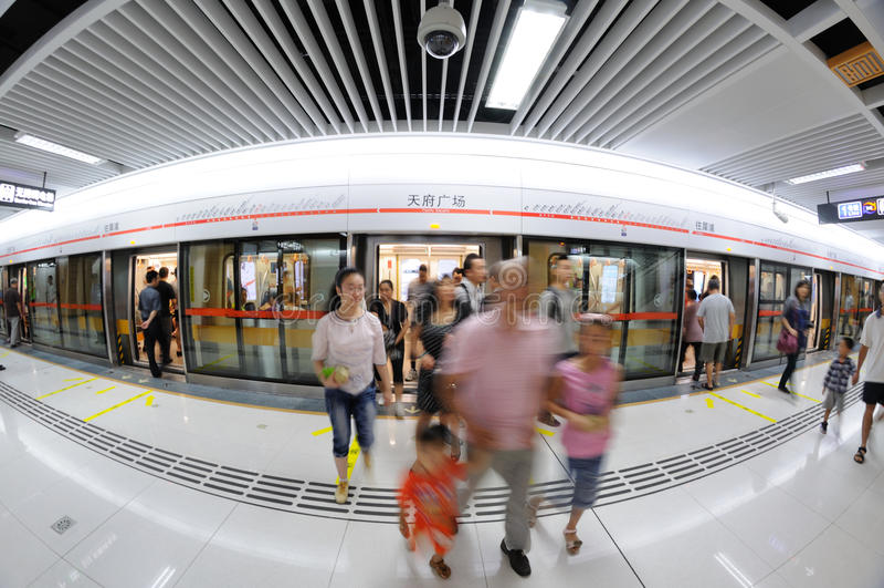 Download Chengdu Metro Line 2, Tianfu Square Station Editorial Stock Photo - Image: 26487973