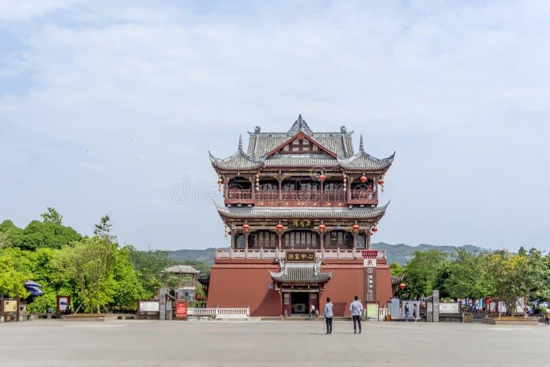 Chengdu punktu zwrotnego luodai antyczny miasteczko, Chiny zdjęcia royalty free