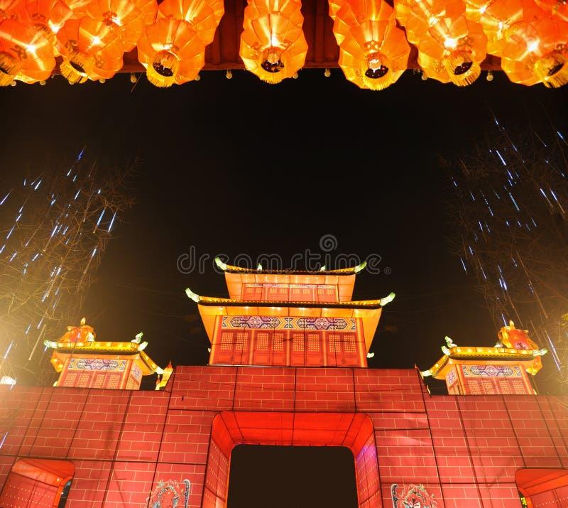 chengdu rok chiński uczciwy nowy świątynny zdjęcia stock