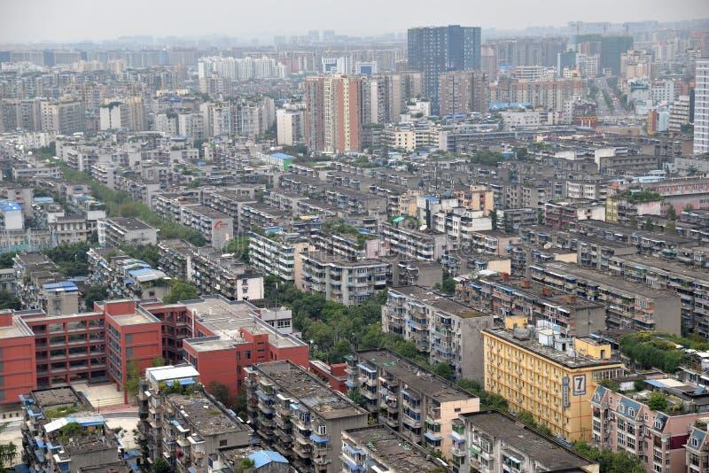 Chengdu, Sichuan, cidade da multidão de porcelana fotos de stock royalty free