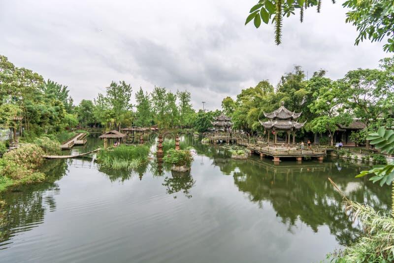 Huanglongxi, a tourist landmark in Chengdu stock photo