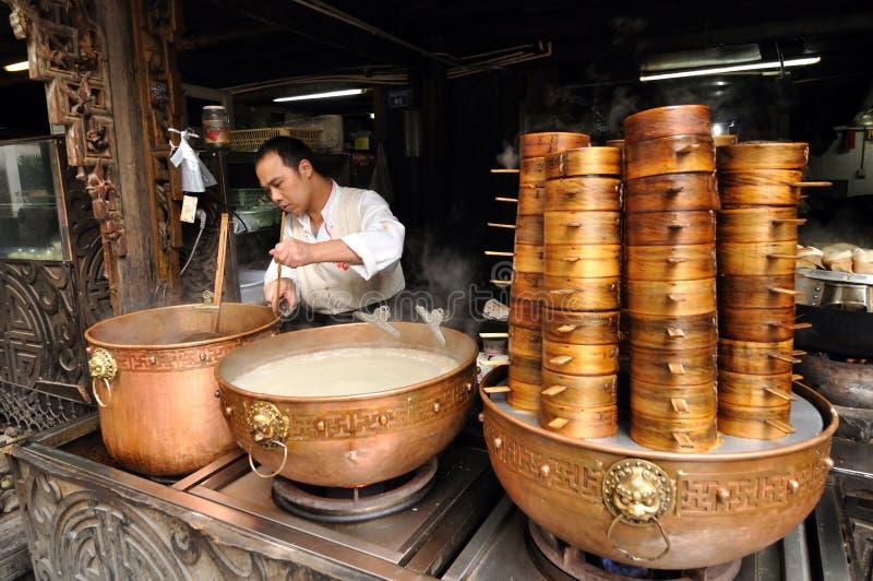 Chengdu traditionelle Imbisse machen lizenzfreies stockbild